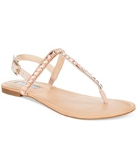 Inc International Concepts Women's Montawk Embellished T Strap Slingback Sandals Only At Macy's Women's Shoes Light Blush