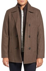 Kenneth Cole Men's New York Wool Blend Peacoat Java