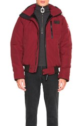Canada Goose Borden Bomber With Coyote Fur In Red