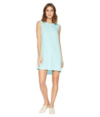 Allen Allen Short Tank Top Dress Aquamarine Blue