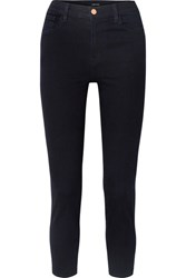 J Brand Ruby Cropped High Rise Slim Leg Jeans Dark Denim