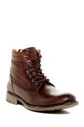 Steve Madden P Quays Lace Up Boot Brown