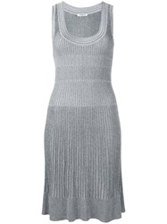 Cacharel Ribbed Knit Dress Grey