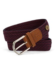 Faguo Red And Blue Nylon Belt