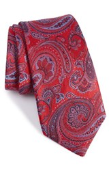 Nordstrom Men's Men's Shop Wanderlust Paisley Silk Tie Red
