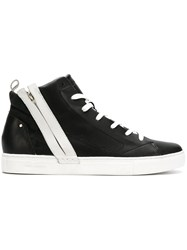 Crime London Magma Hi Top Sneakers Black
