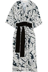 Cedric Charlier Printed Twill Dress White