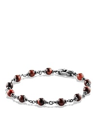 David Yurman Spiritual Beads Rosary Bracelet In Red Tiger Eye