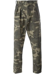 Faith Connexion Camouflage Print Trousers Green