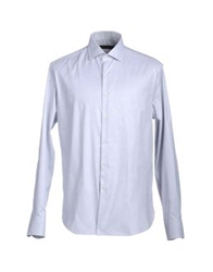 Andrea Morando Long Sleeve Shirts Light Grey