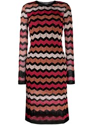 M Missoni Zig Zag Knit Dress Black
