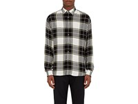 Public School Men's Plaid Gauze Shirt Black