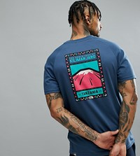 The North Face T Shirt Faces Back Print Exclusive To Asos In Dark Blue Blue