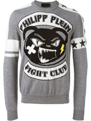Philipp Plein 'Fight Club' Sweater Grey