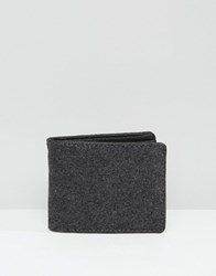Racing Green Grey Melton Bifold Wallet Grey