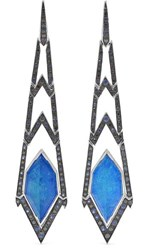 Stephen Webster Lady Stardust 18 Karat White Gold Multi Stone Earrings