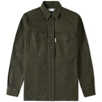 Gosha Rubchinskiy Garment Washed Denim Shirt Green