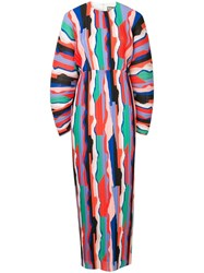 Solace London Colour Block Maxi Dress Multicolour
