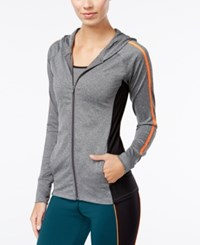 Energie Active Juniors' Full Zip Hoodie Heather Grey
