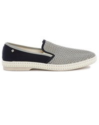 Rivieras 20 Degrees Grey And Navy Loafers
