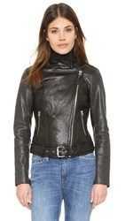 Mackage Washed Leather Jacket Black