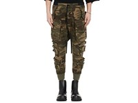 Ben Taverniti Unravel Project Men's Camouflage Cotton Blend Cargo Pants Dark Green