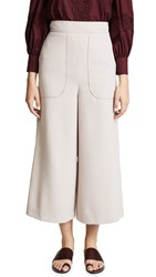 See By Chloe Cropped Trousers Bark Grey