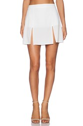 Donna Mizani Mini Slit Skirt White