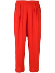 Mes Demoiselles 'Doshi' Trousers Women Silk 36 Red