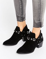 Truffle Collection Western Trim Boot Black Micro