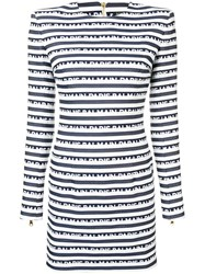 Balmain Logo Stripe Dress White