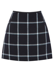Oasis Check Marley Mini Skirt Navy