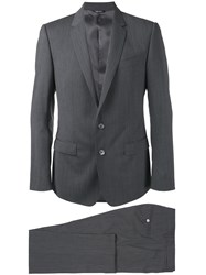 Dolce And Gabbana Single Breasted Suit Grey