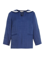Ymc Nautical Linen Blend Top