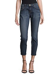 Current Elliott Cotton Blend Cropped Jeans Tuxedo Blue