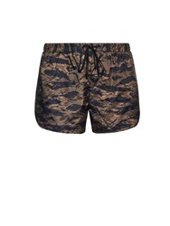 The Upside Shen Camouflage Print Performance Shorts