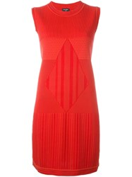 Chanel Vintage Sleeveless Knit Dress Red