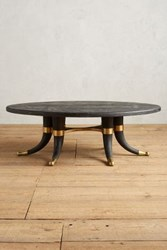 Anthropologie Wooden Tusk Coffee Table Black