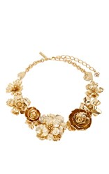 Oscar De La Renta Bold Flower Necklace Gold