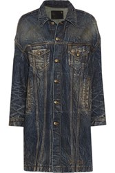 R 13 R13 X Oversized Trucker Acid Wash Denim Jacket Dark Denim