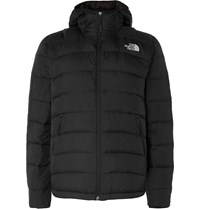 The North Face La Paz Packable Quilted Ripstop Shell Hooded Down Jacket Black