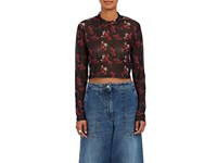 Public School Charlie Floral Mesh Top Black