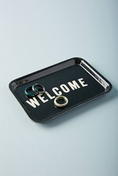 Anthropologie Welcome Decorative Tray Black