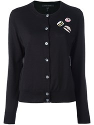 Marc Jacobs Sequin Patch Cardigan Women Wool S Black