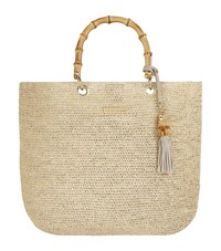Heidi Klein Medium Savannah Bay Raffia Bag Neutral