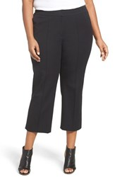Sejour Plus Size Women's Wide Leg Crop Pants
