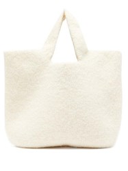Lauren Manoogian Cotton Blend Knitted Tote White