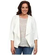 Bb Dakota Plus Size London Jacket Ivory Women's Coat White
