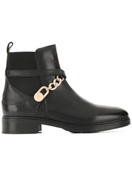 Tommy Hilfiger Chain Embellished Ankle Boots Black