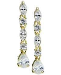 Giani Bernini Cubic Zirconia Linear Drop Earrings In 18K Gold Plated Sterling Silver Only At Macy's White